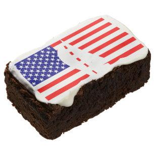 American Flag Nautical America Yacht Sailing Chocolate Brownie