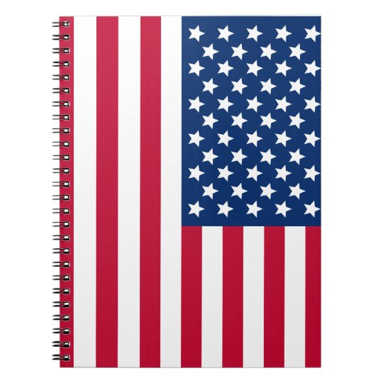 American Flag Notebook