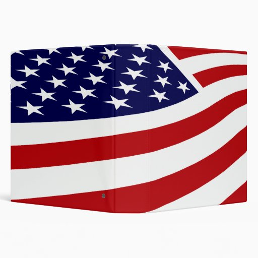 AMERICAN FLAG NOTEBOOK VINYL BINDERS Zazzle