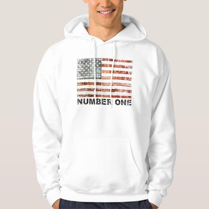 American Flag, Number One Hoodie