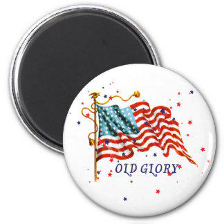 American Flag, Old Glory 2 Inch Round Magnet