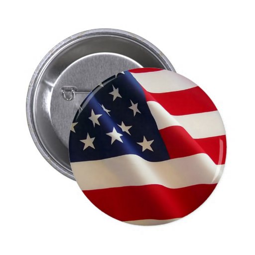 American Flag. Old Glory! Pinback Button