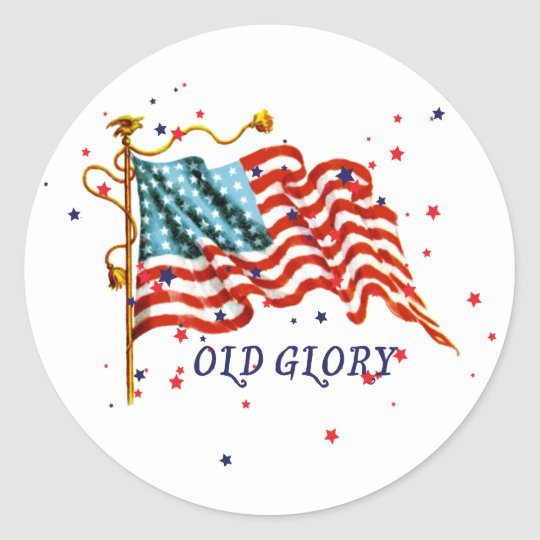 American Flag, Old Glory Classic Round Sticker