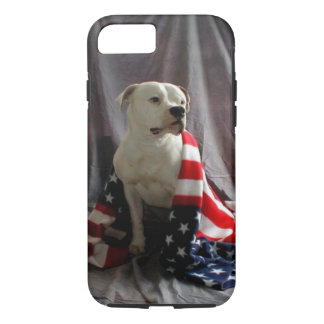 American Flag on a beautiful dog iPhone 8/7 Case
