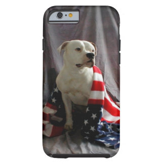American Flag on a beautiful dog Tough iPhone 6 Case