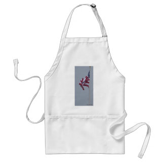 American Flag On A Snowy Day Photograph Adult Apron