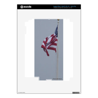 American Flag On A Snowy Day Photograph iPad 3 Decals