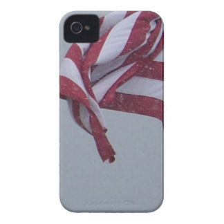American Flag On A Snowy Day Photograph iPhone 4 Case