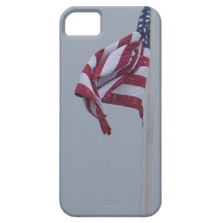 American Flag On A Snowy Day Photograph iPhone SE/5/5s Case
