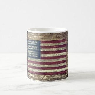 American flag on building coffee mug