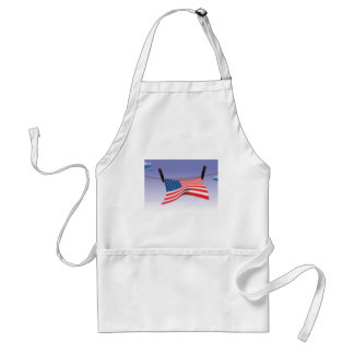 American Flag on Clothes Line Adult Apron