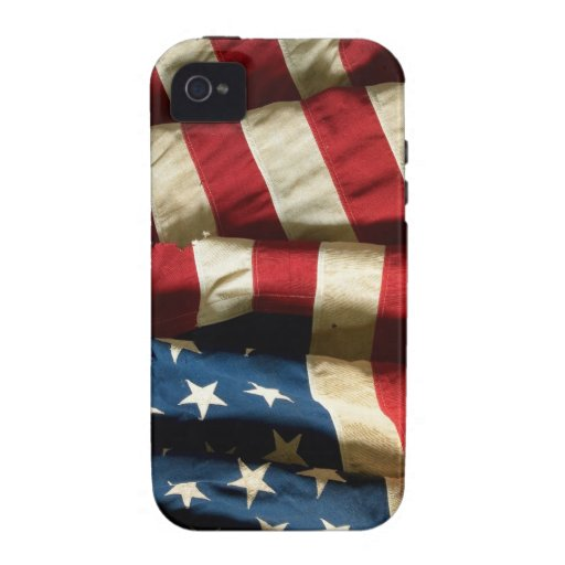 American flag on iPhone 4 Case-Mate Tough™ iPhone 4 Case