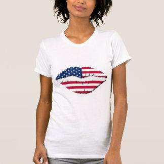 American Flag On Lips T-Shirt