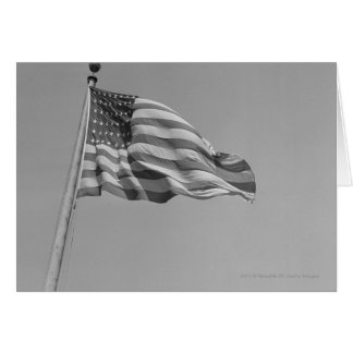 American flag on mast card
