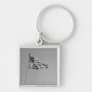American flag on mast keychain