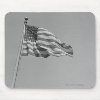 American flag on mast mouse pad