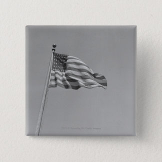 American flag on mast pinback button