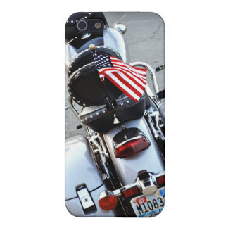 American Flag on Motorcycle - IPhone Case