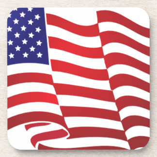 AMERICAN FLAG ONDULATING - BIG SPANGLE BANNER COASTER