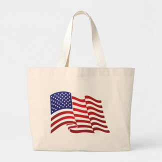 AMERICAN FLAG ONDULATING - BIG SPANGLE BANNER LARGE TOTE BAG