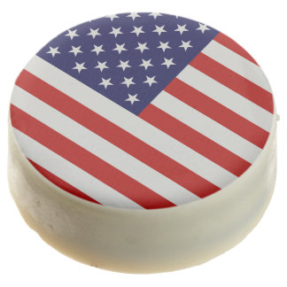 American Flag Oreo Cookies - One Dozen Chocolate Dipped Oreo