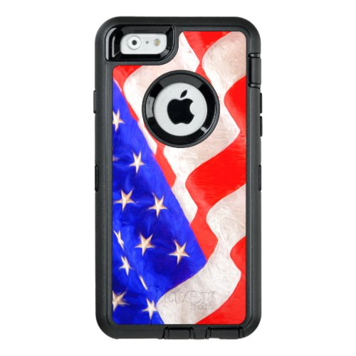 American Flag OtterBox Defender iPhone 6/6s Cas Phone Case