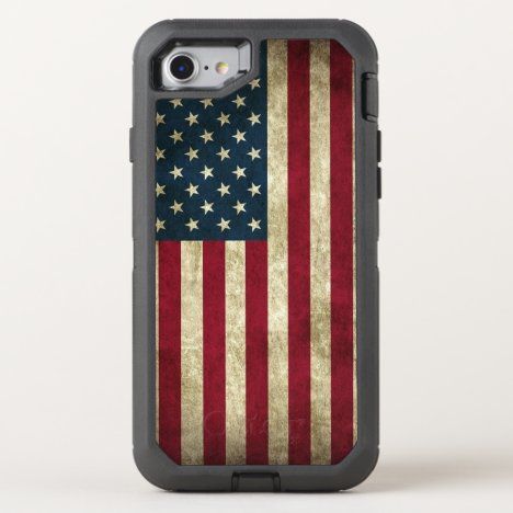 American Flag OtterBox Defender iPhone SE/8/7 Case