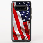 """American Flag OtterBox Symmetry Samsung Galaxy S10  Case<br><div class=""""desc"""">This super patriotic case features a vintage image of a American flag. Please feel free to customize all the options as you wish.</div>"""