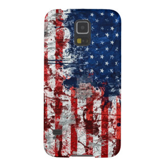 American Flag Paint Galaxy S5 Cover