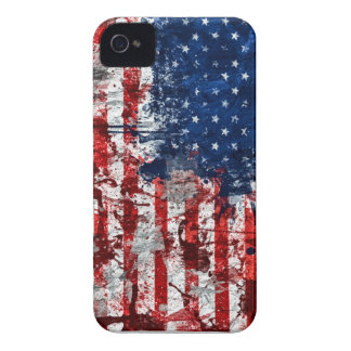 American Flag Paint iPhone 4 Case