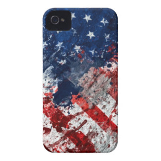 American Flag Paint iPhone 4 Cover