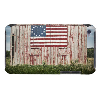American flag painted on barn iPod Case-Mate case