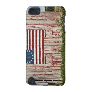 American flag painted on barn iPod touch (5th generation) case