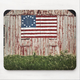 American flag painted on barn mouse pad