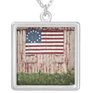 American flag painted on barn pendants