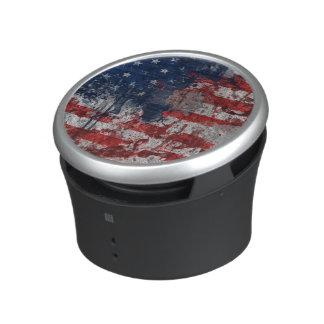 American Flag Painted on Grunge Wall Speaker