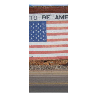 American Flag painted on old building Rack Card Design