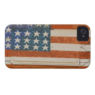 American flag painted onto fireworks stand near iPhone 4 Case-Mate case