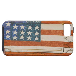 American flag painted onto fireworks stand near iPhone SE/5/5s case