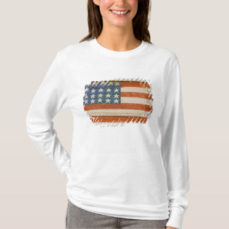 American flag painted onto fireworks stand near T-Shirt