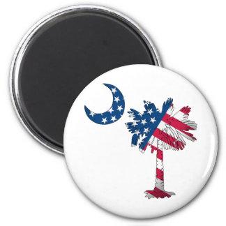 American Flag Palmetto Fridge Magnets