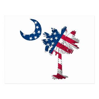 American Flag Palmetto Postcard