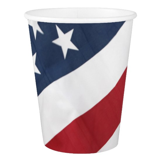 American Flag Paper Cup