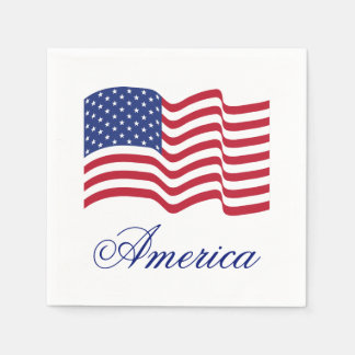 American Flag Paper Party Summer Napkins
