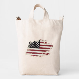 American Flag Patch. Duck Bag