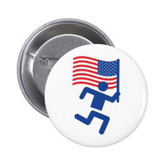 american flag patriot pinback button