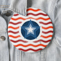 American Flag Patriot button