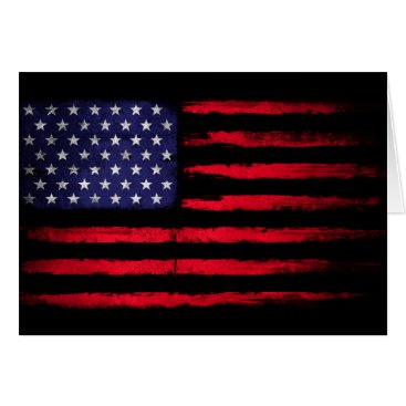 American Flag Patriot Card