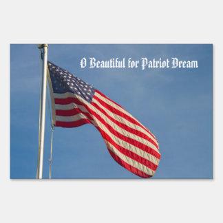 American Flag Patriot Dream Customizable Sign