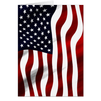 American Flag Patriotic Independence Day Card